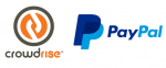 crowdrise and paypal logos