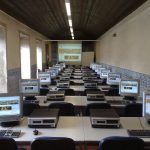 classroom full of computers